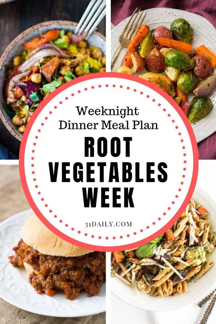 Pinterest Pin for Root Vegetables Meal Plan
