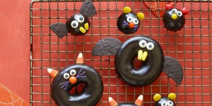 Best Black Cat, Bat, Spider, and Mice Doughnuts Recipe