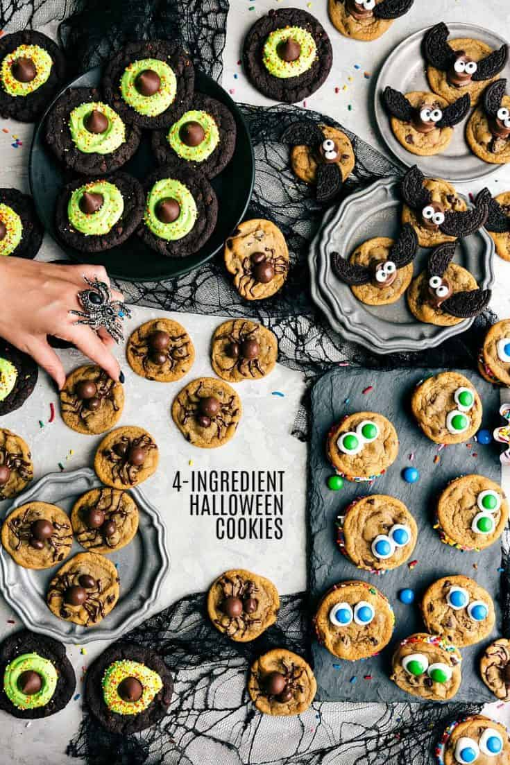 4 Easy Halloween Cookies [4-ingredients]