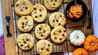 Pumpkin Butter Chocolate Chip Cookies