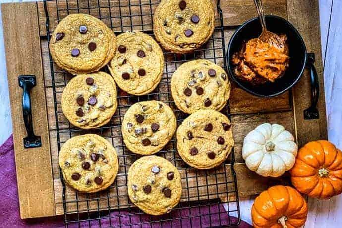 Pumpkin Butter Chocolate Chip Cookies