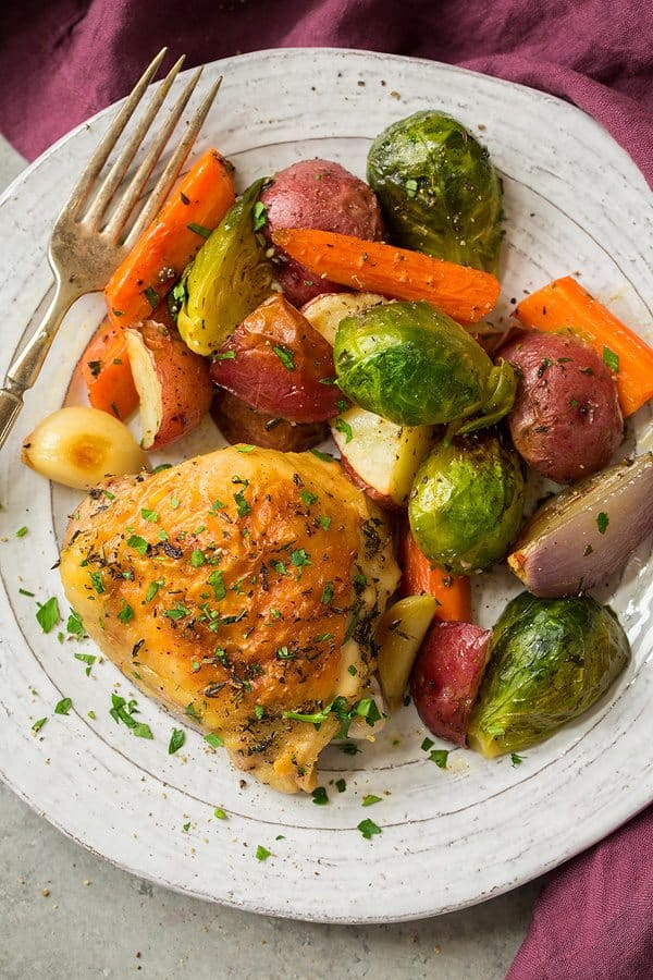 Thursday: Sheet Pan Roasted Chicken with Root Vegetables