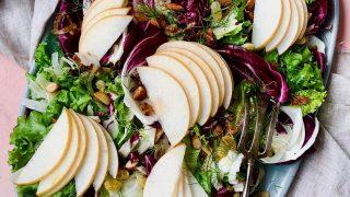 Asian Pear, Fennel Radicchio Salad with Spicy Citrus Dressing recipe