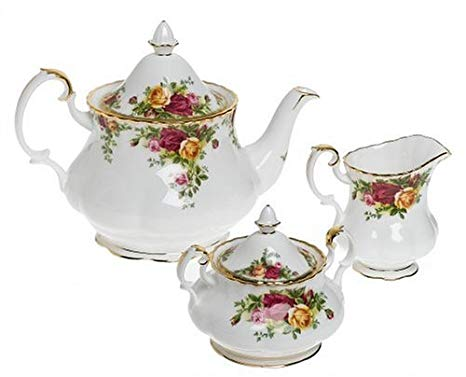Royal Doulton Old Country Roses 3-Piece Tea Set