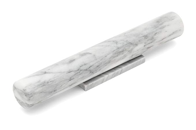 French Marble Rolling Pin with Base