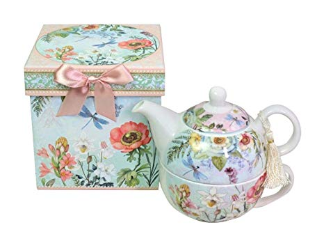 Bone China Tea for One Set in Flora Design