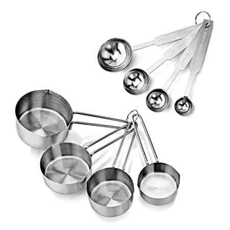Stainless Steel Measuring Spoons and Cups Set