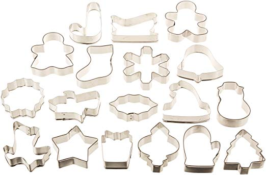 18 pc Metal Cookie Cutter Set