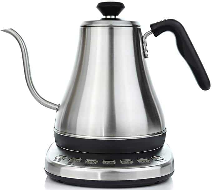 Electric Stainless Gooseneck Tea Kettle with Temperature Presets