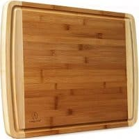 Extra Large Bamboo Cutting Board with Juice Groove
