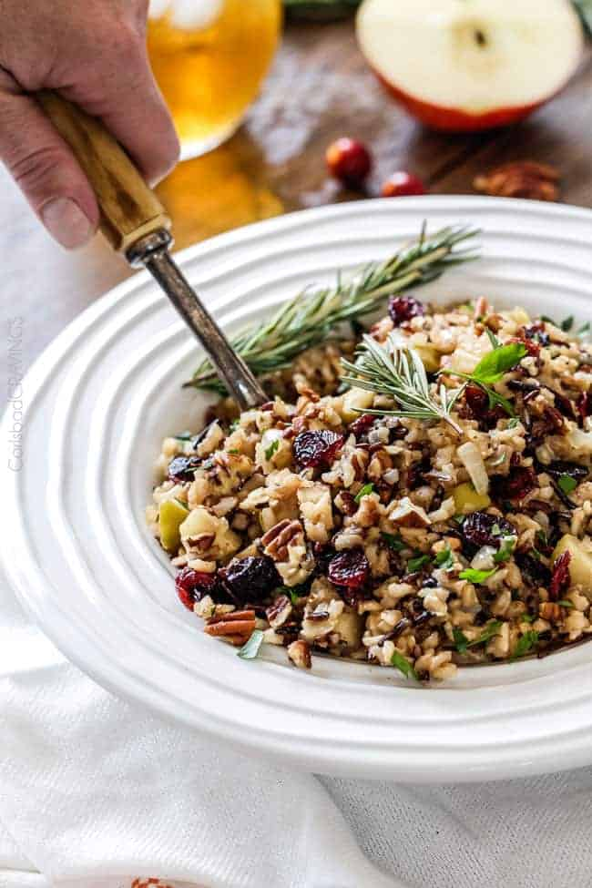 Wild Rice Pilaf with Cranberries, Apples and Pecans