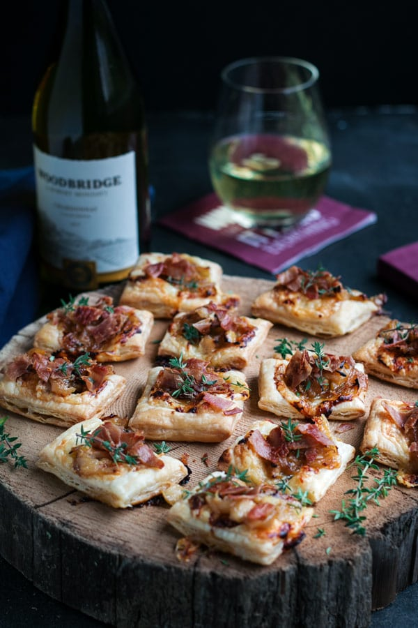 Caramelized Onion Puff Pastry Tartlets