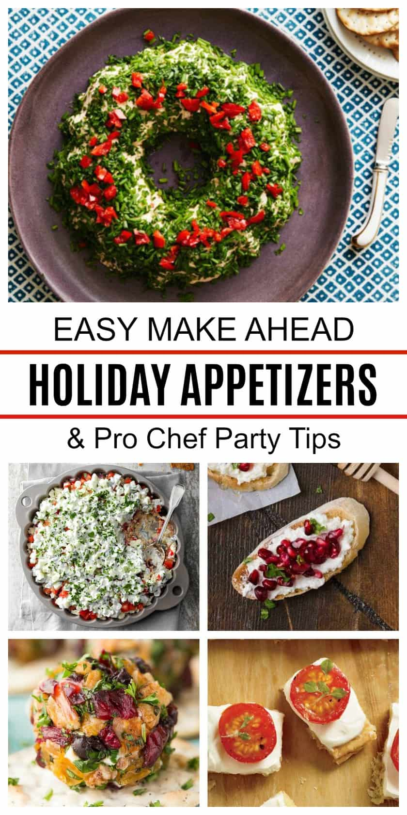 Pinterest Pin for Make Ahead Appetizers