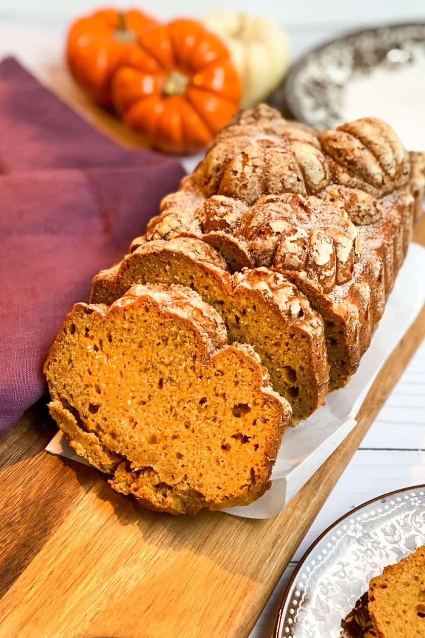 Sliced Sweet Potato Bread
