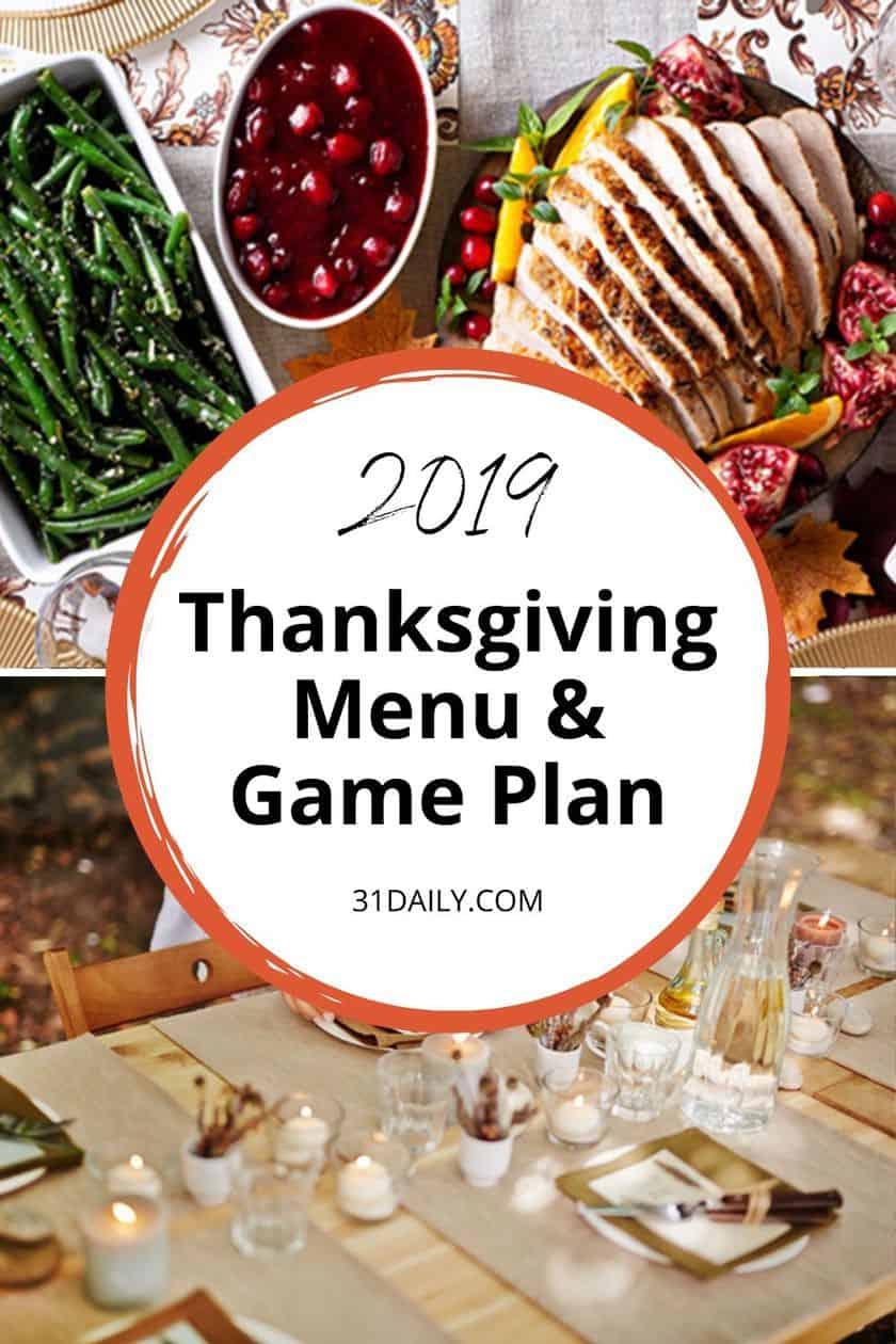 Pinterest Pin for Thanksgiving Menu