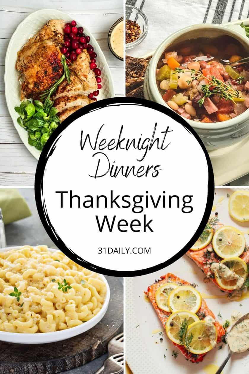 PInterest Pin What to Cook Thanksgiving Week