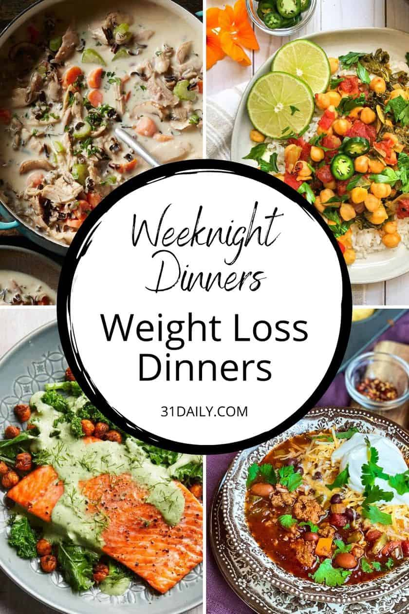 Pinterest Pin Weight Loss Dinners