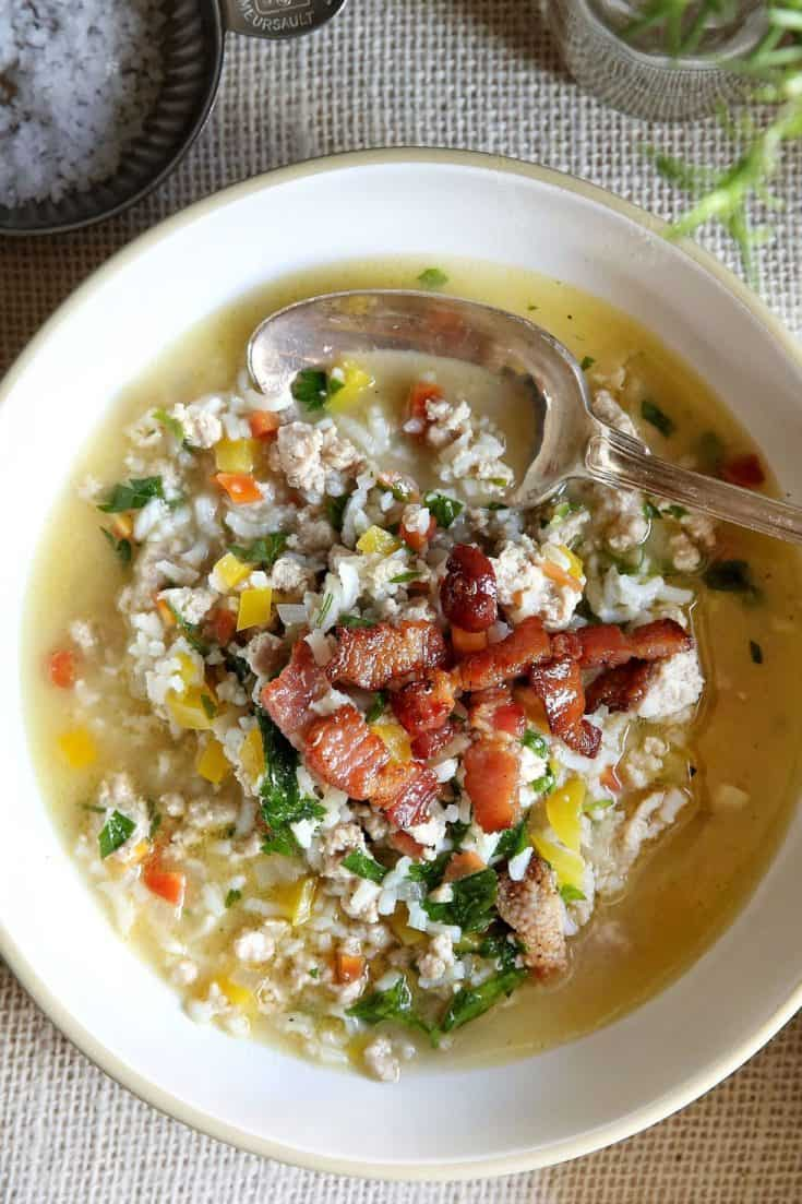 Leftover Turkey & Rice Soup