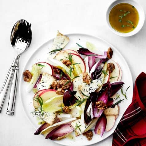 Endive and Apple Salad with Candied Walnuts