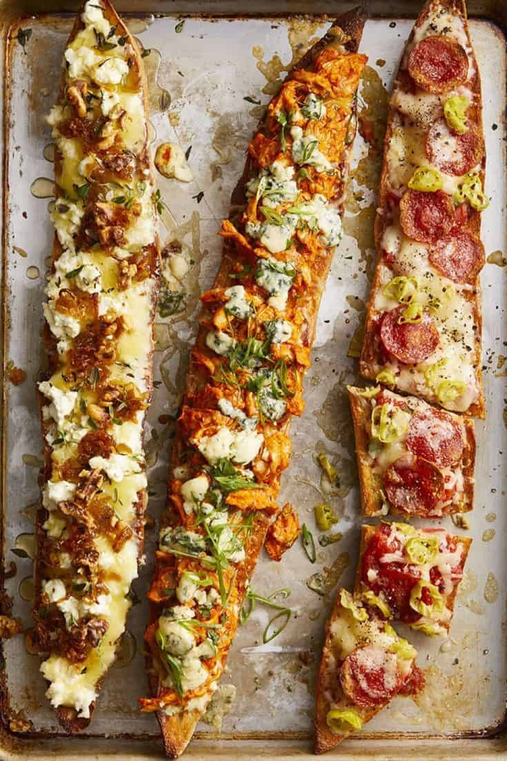 Turkey Baguette Pizzas