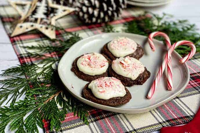 Peppermint Mocha Brownie Cookies