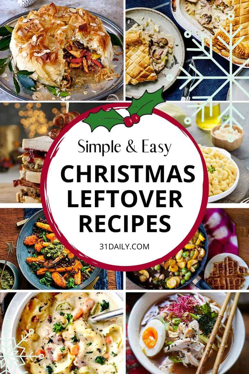 Pinterest Pin Christmas Leftovers Recipes