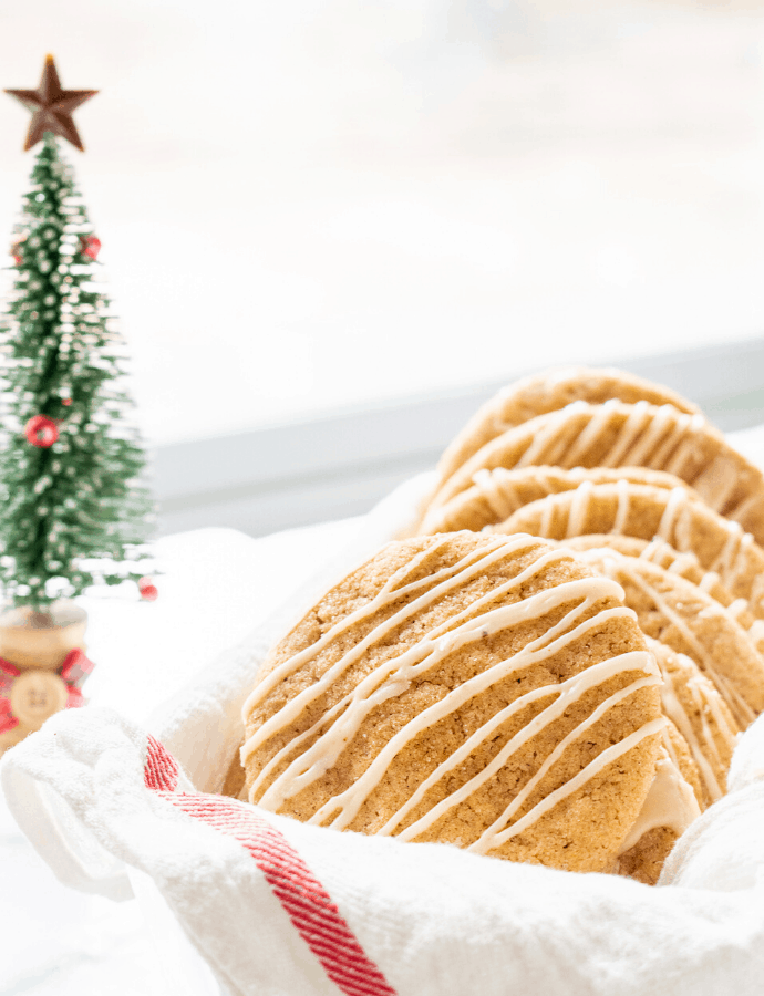 Chai Sugar Cookies with Eggnog Icing