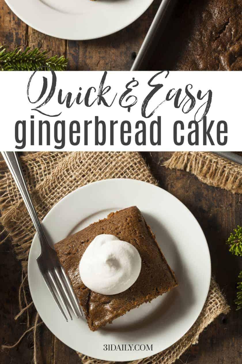 Pinterest Pin Gingerbread Cake