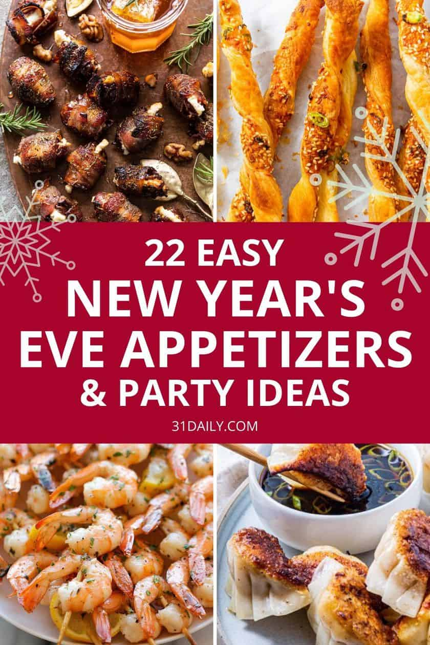 Pinterest Pin New Year's Eve Appetizers