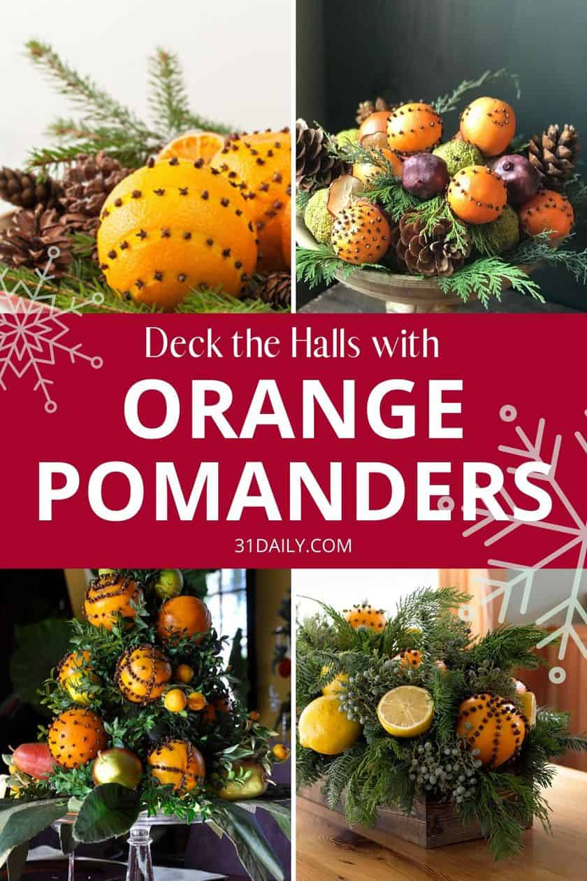 PInterest Pin Orange Pomanders