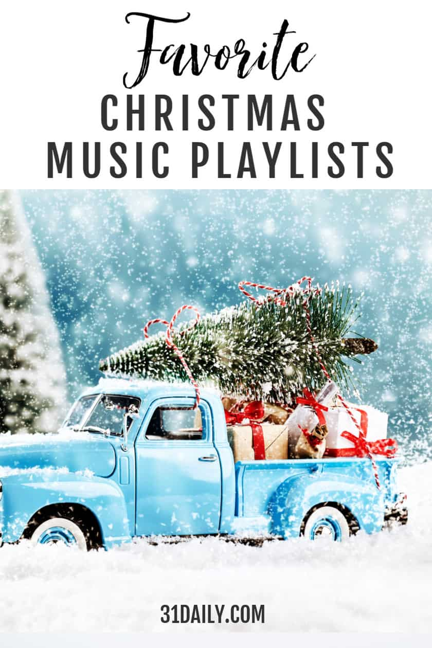 Pinterest Pin Christmas Music Playlists