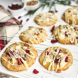 Coconut Cranberry White Chocolate Cookies