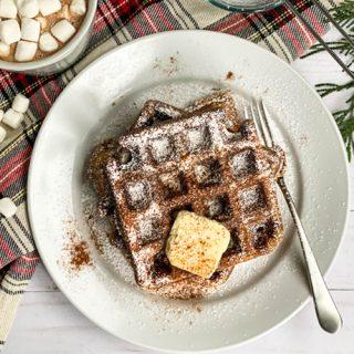 Holiday Gingerbread Waffles