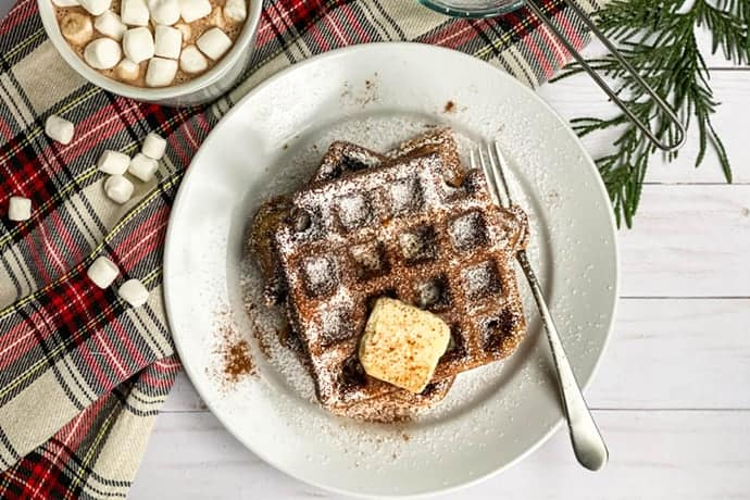Holiday Gingerbread Waffles Recipe