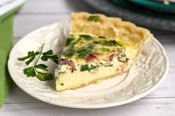 Slice of Make Ahead Quiche