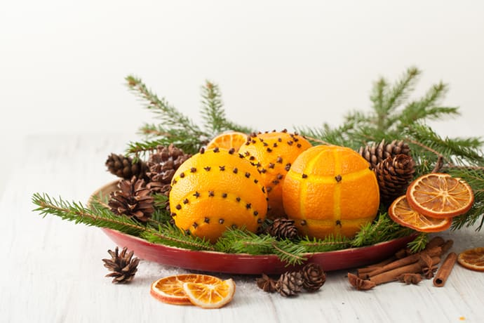 Decking the Halls with Orange Pomanders