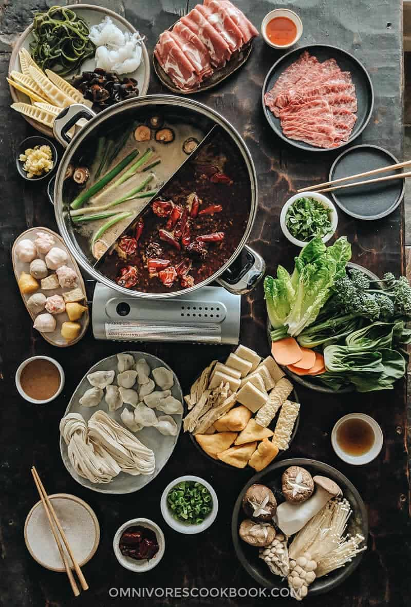 asian hot pot cooking