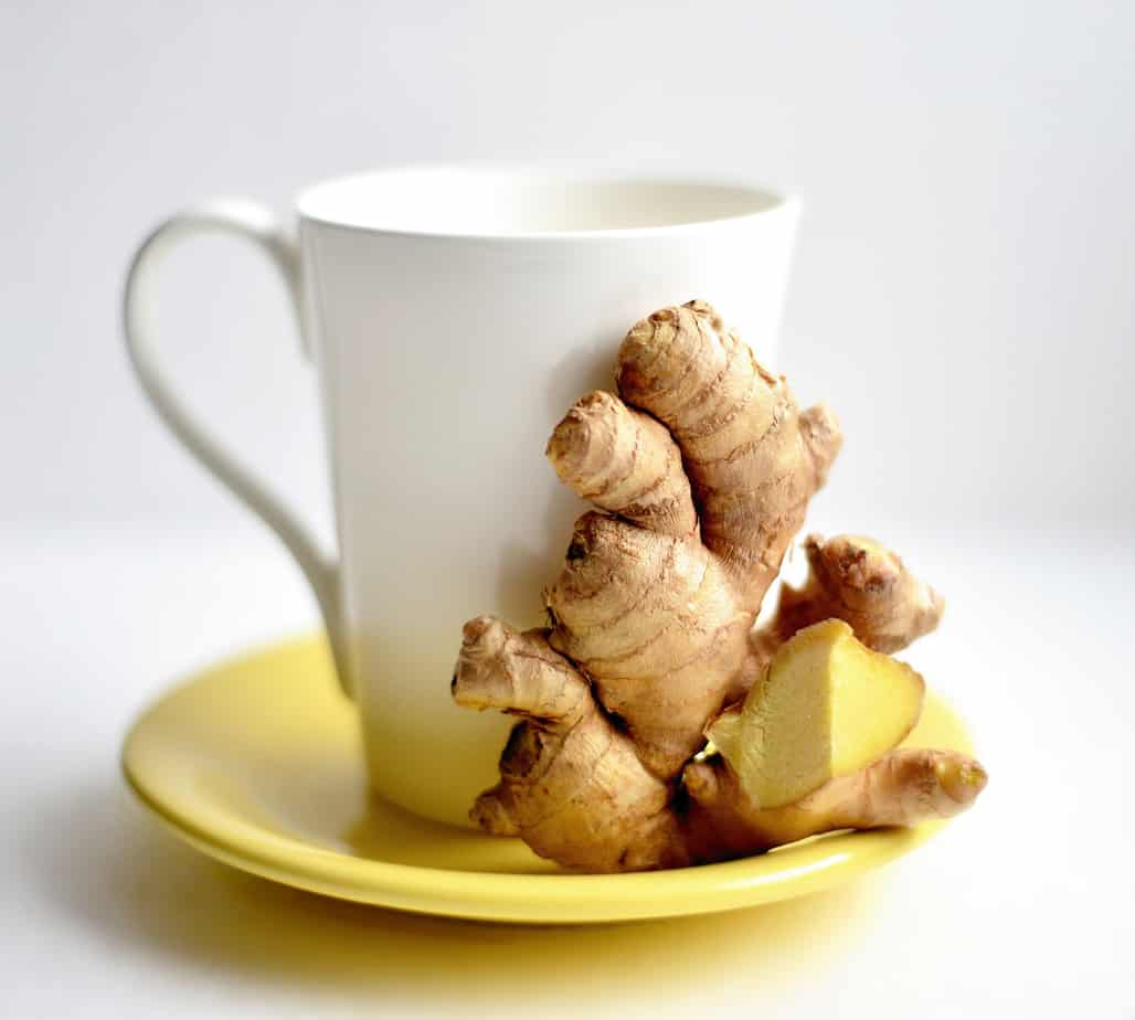 Ginger Root with White Mug