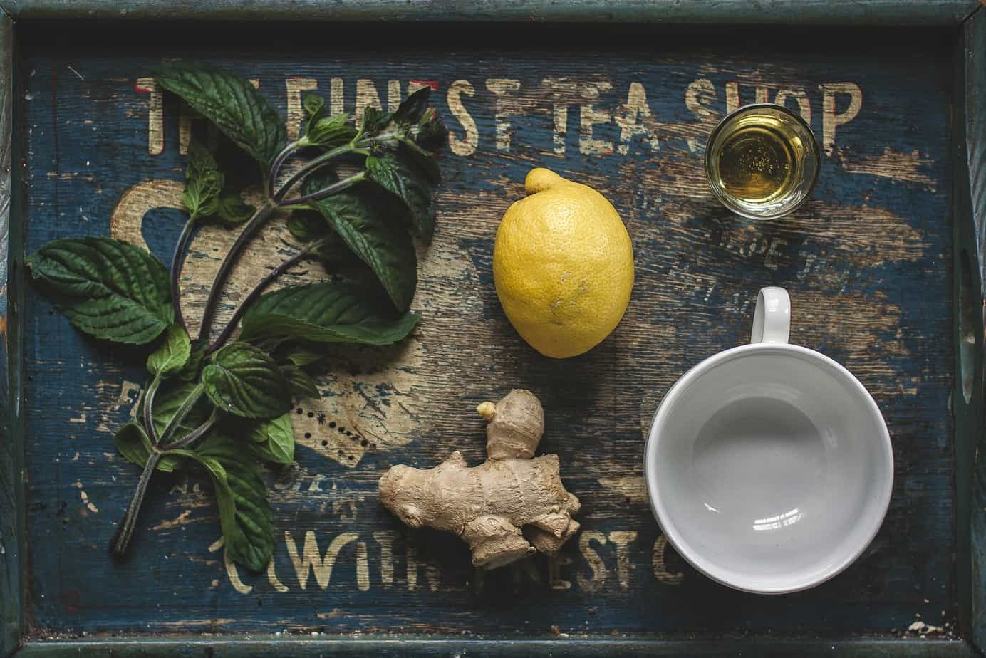 Ingredients for Fresh Lemon Ginger Tea