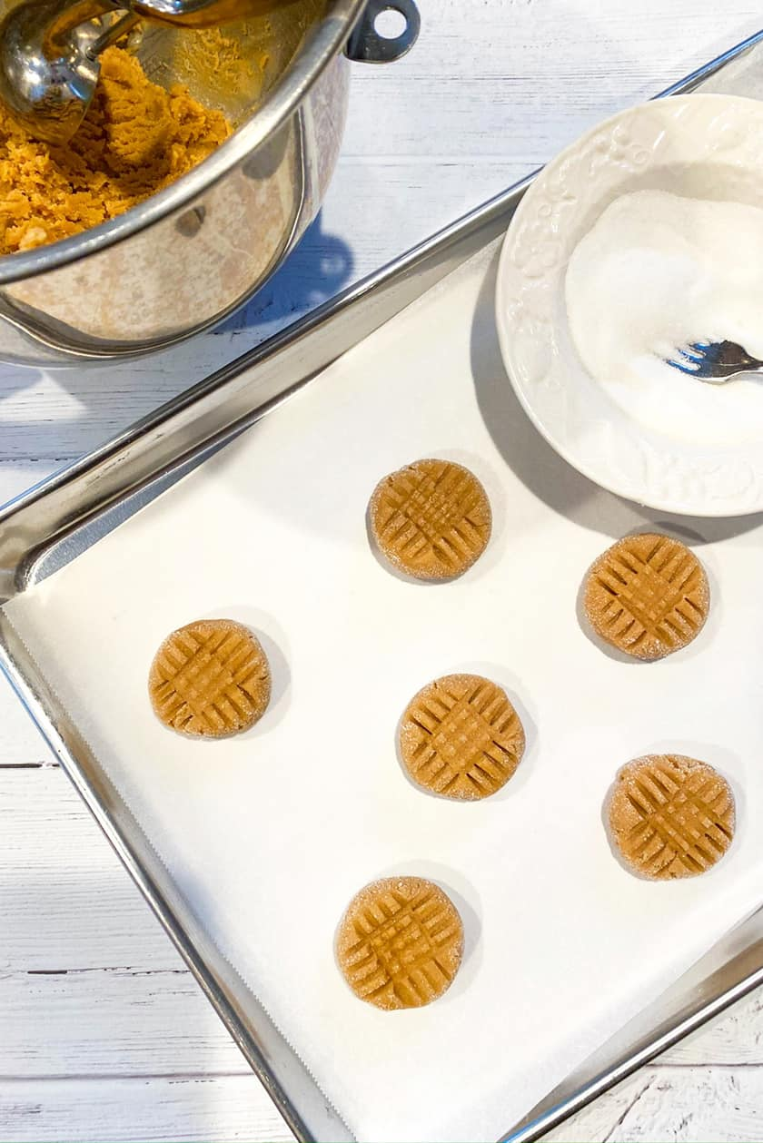 Peanut Butter Cookie Dough with Crosshatch