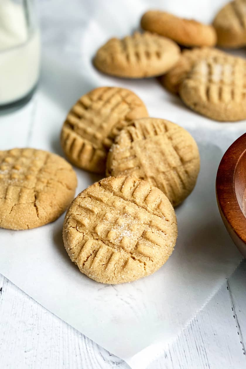 Closeup of a Baked Peanut Butter Cookie