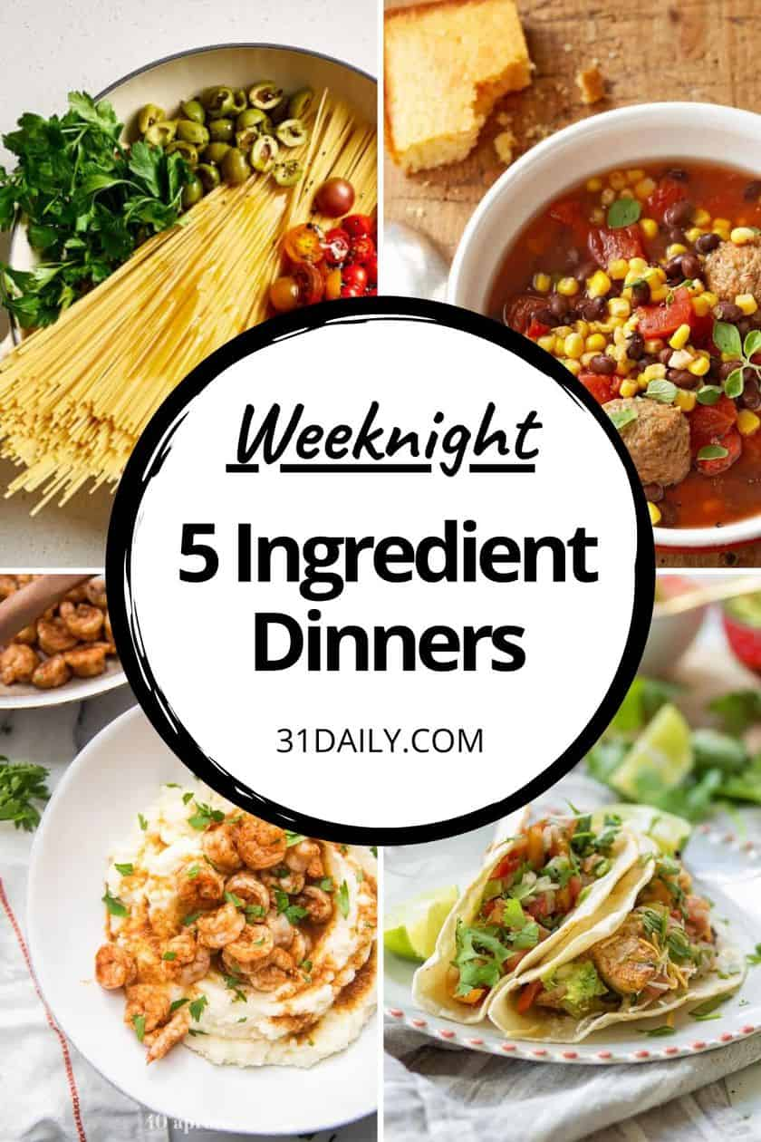 Pinterest Pin for 5 Ingredient Dinners