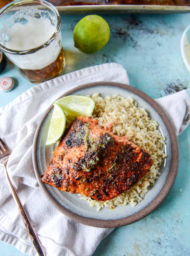 Thursday: Cajun Salmon - 30 Minute Cajun Salmon with Salted Lime Butter
