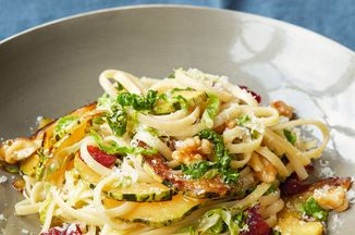 Monday: Pasta with Cabbage, Winter Squash and Walnuts