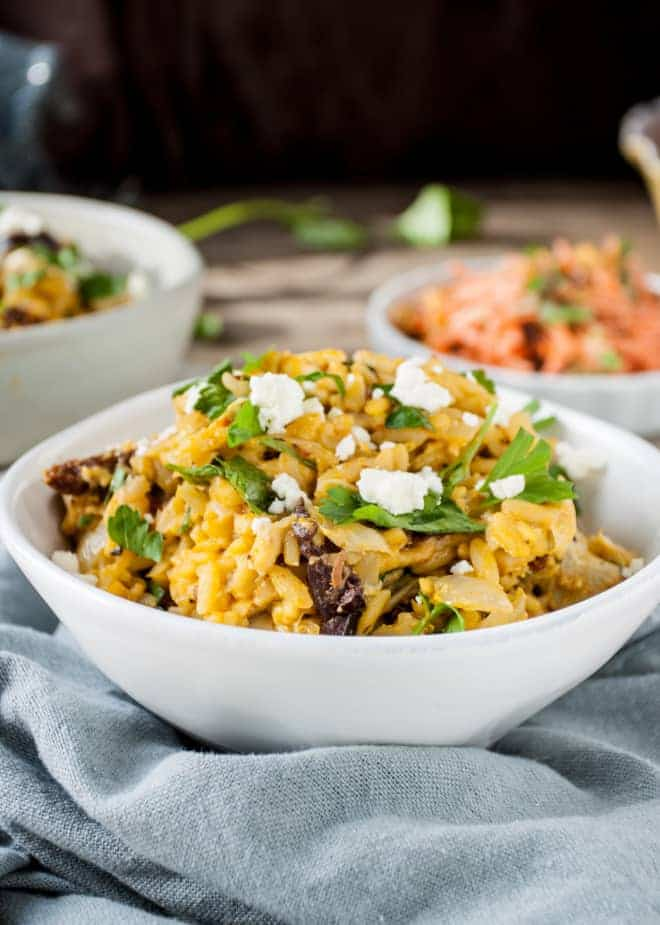Wednesday: One-Pot Orzo with Feta, Olives & Artichokes