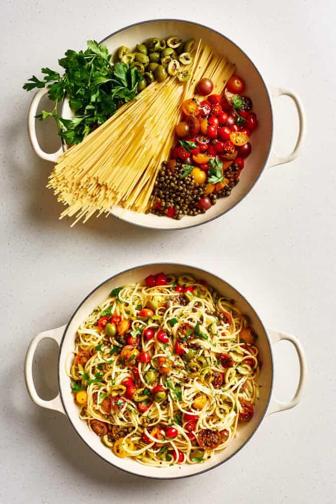 Monday: One-Pot Puttanesca Pasta