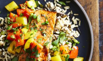 Dinner Meal Plan Spicy Salmon and Wild Rice