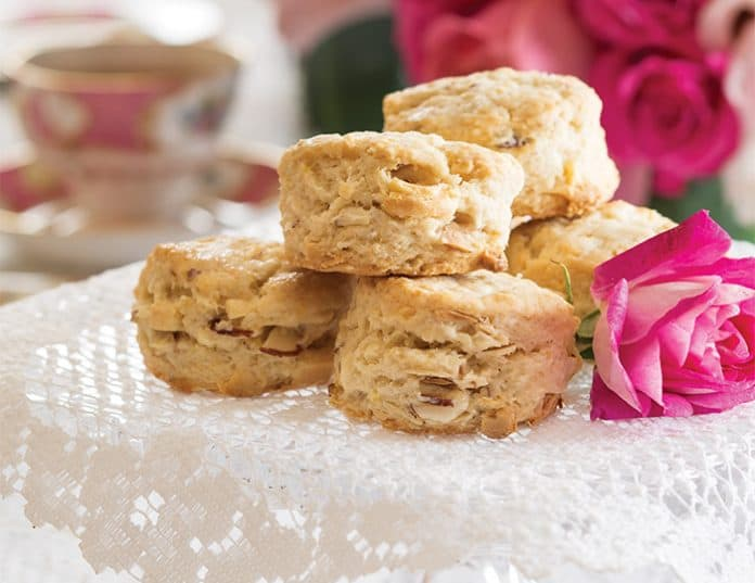 White Chocolate–Almond Scones