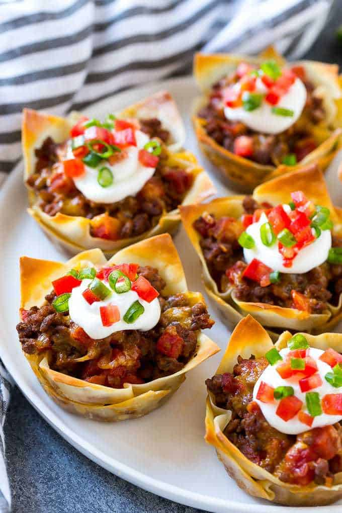 Taco Cups with Beef and Cheese