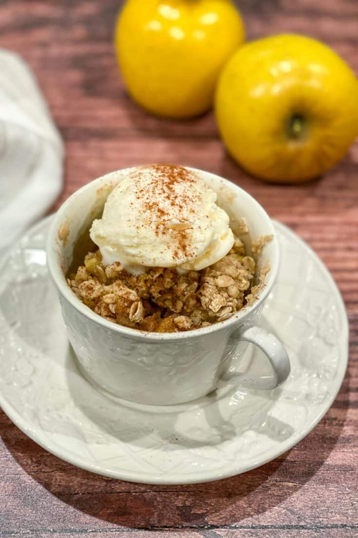Treat: 3 Minute Microwave Apple Crisp in a Mug